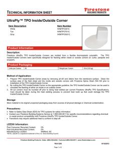 UltraPly™ TPO Inside/Outside Corner
