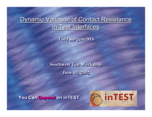 Dynamic Variation of Contact Resistance in Test