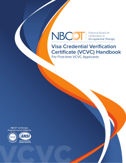 Visa Credential Verification Certificate (VCVC) Handbook