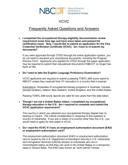 Occupational Therapy Board Frequently Asked Questions Q ...