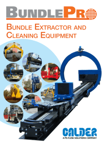 BUNDLE ExTRACTOR AND CLEANING EQUIPMENT