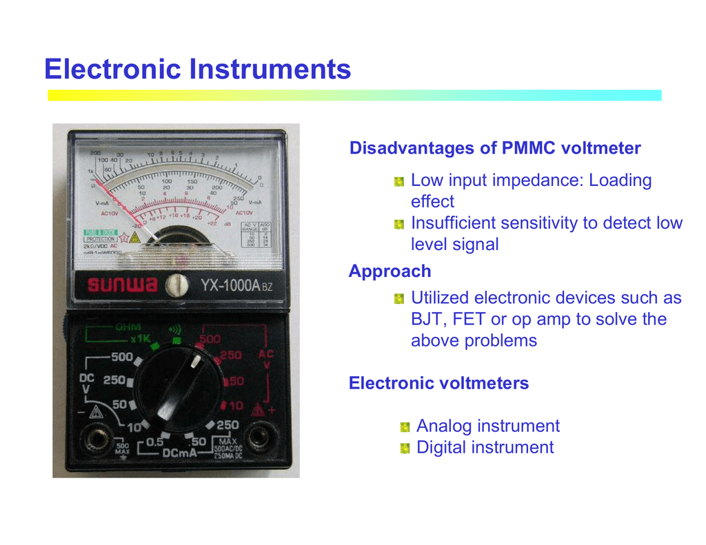 Electronic Instruments For Measuring Basic Parameters Analog Meter Precision Rectifier Voltagetocurrent Converter