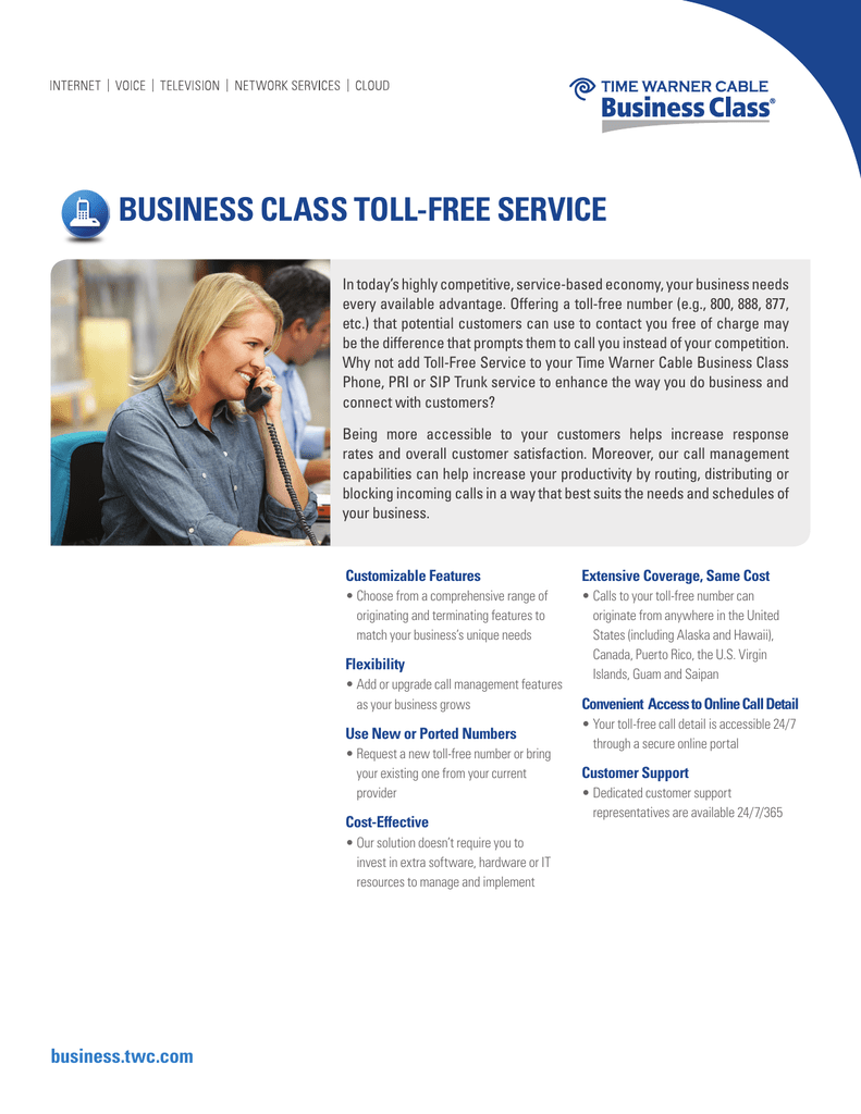 BUSINESS CLASS TOLL-FREE SERVICE