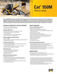 Key Features and Benefits for Cat 950M Wheel Loader