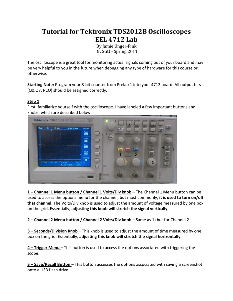 Tektronix Tds 2012b Oscilloscope Tutorial