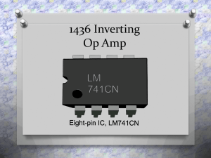 1436 Inverting Op Amp - Cleveland Institute of Electronics