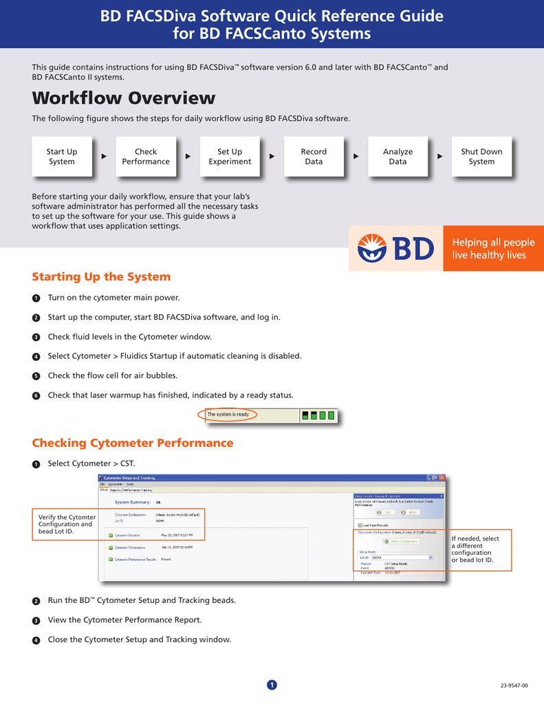 Bd facsdiva software 8.0 reference manual
