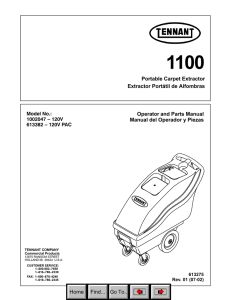 Operator and Parts Manual Manual del Operador y Piezas Portable