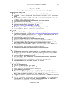 Revised Paper Checklist How to get past Initial QC and back into