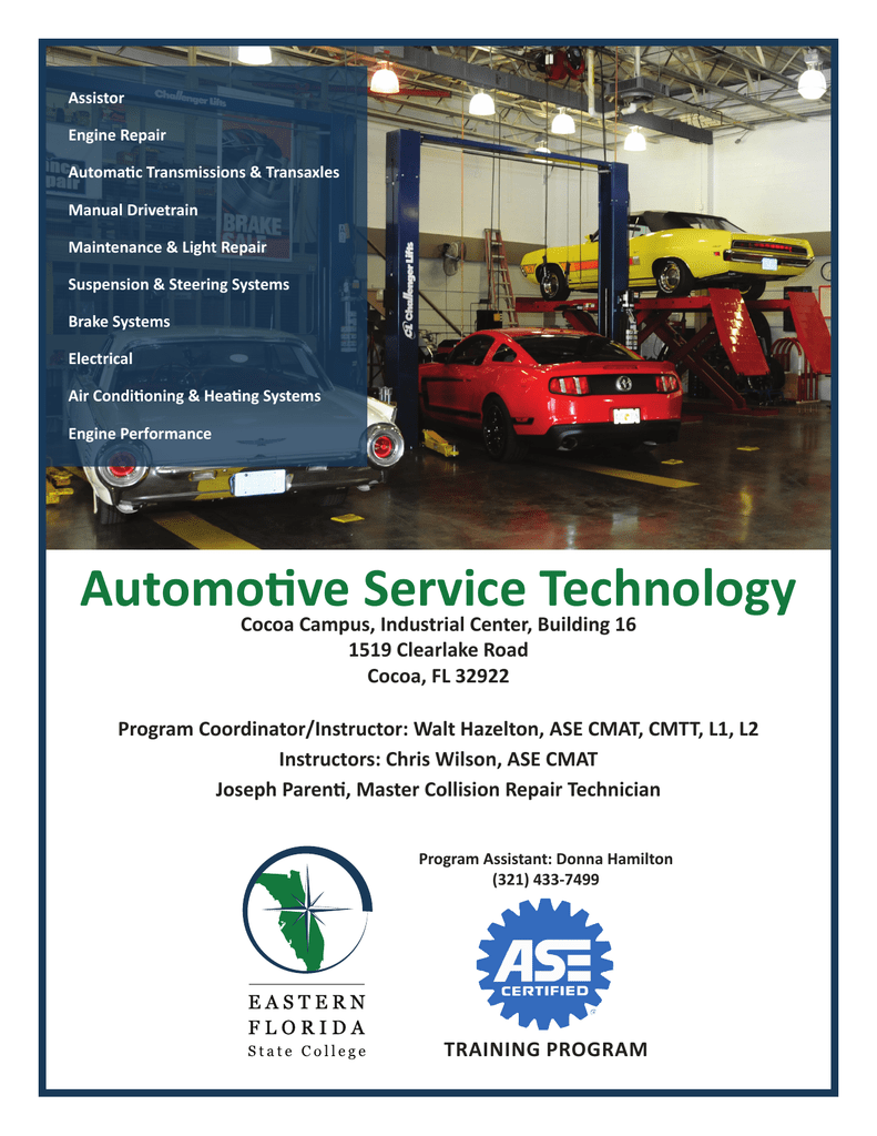 Automotive Service Technology - Eastern Florida State College