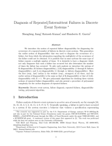Diagnosis of Repeated/Intermittent Failures in Discrete Event Systems