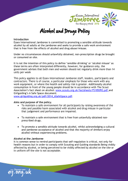 Alcohol and Drugs Policy - Essex International Jamboree