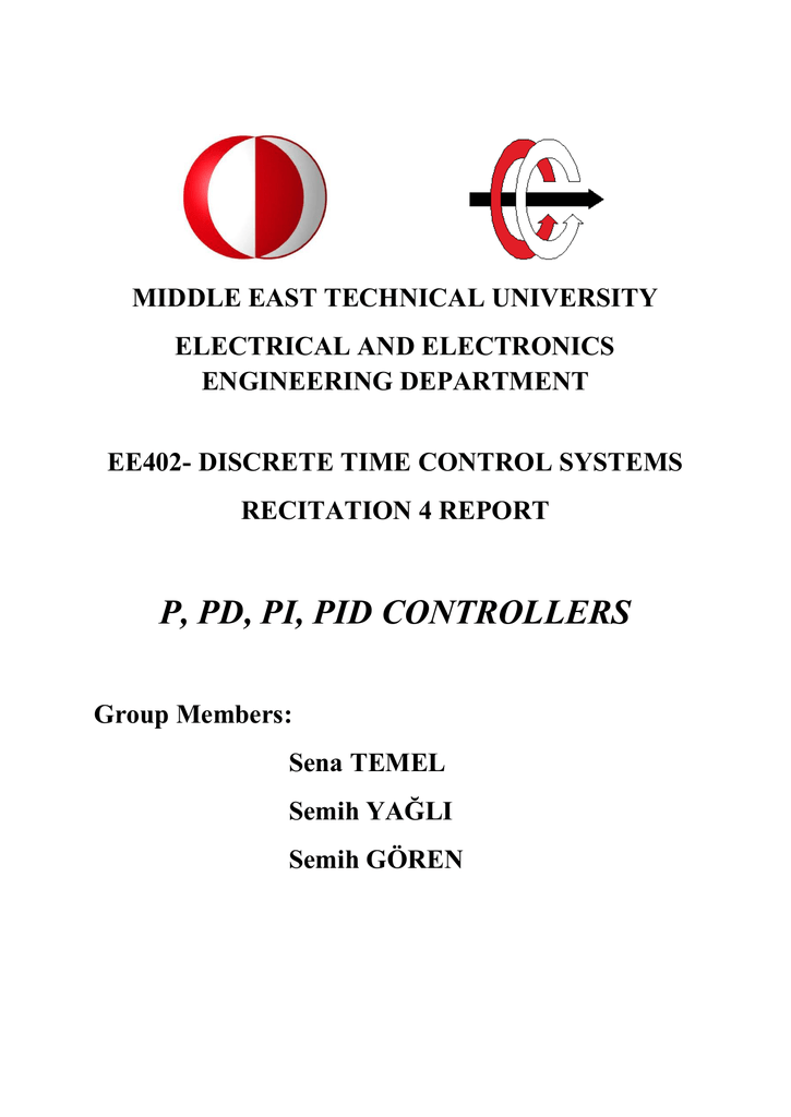 p, pd, pi, pid controllers