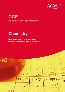 A level chemistry coursework example