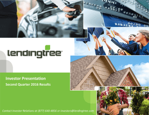 Investor Presentation Second Quarter 2016 Results