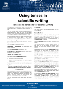 Using tenses in scientific writing Update