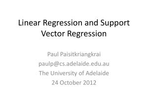 Linear Regression and Support Vector Regression