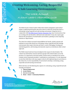 The Walk Around - Alberta Education