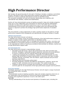 High Performance Director