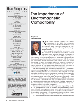 The Importance of Electromagnetic Compatibility