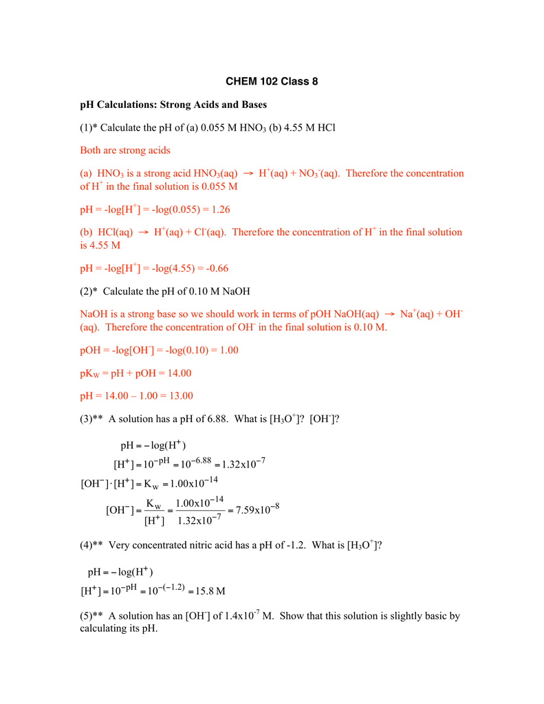 worksheet. Ph Calculation Worksheet. Grass Fedjp Worksheet Study Site