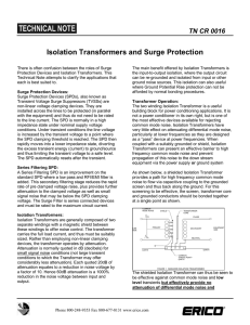 Isolation Transformers and Surge Protection