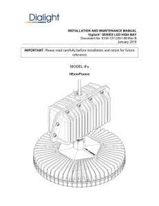 Vigilant LED High Bay Installation Manual