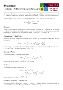 Statistics: Uniform Distribution (Continuous)