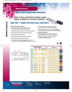 Color-Coded Compression Connectors Compression Type LCN