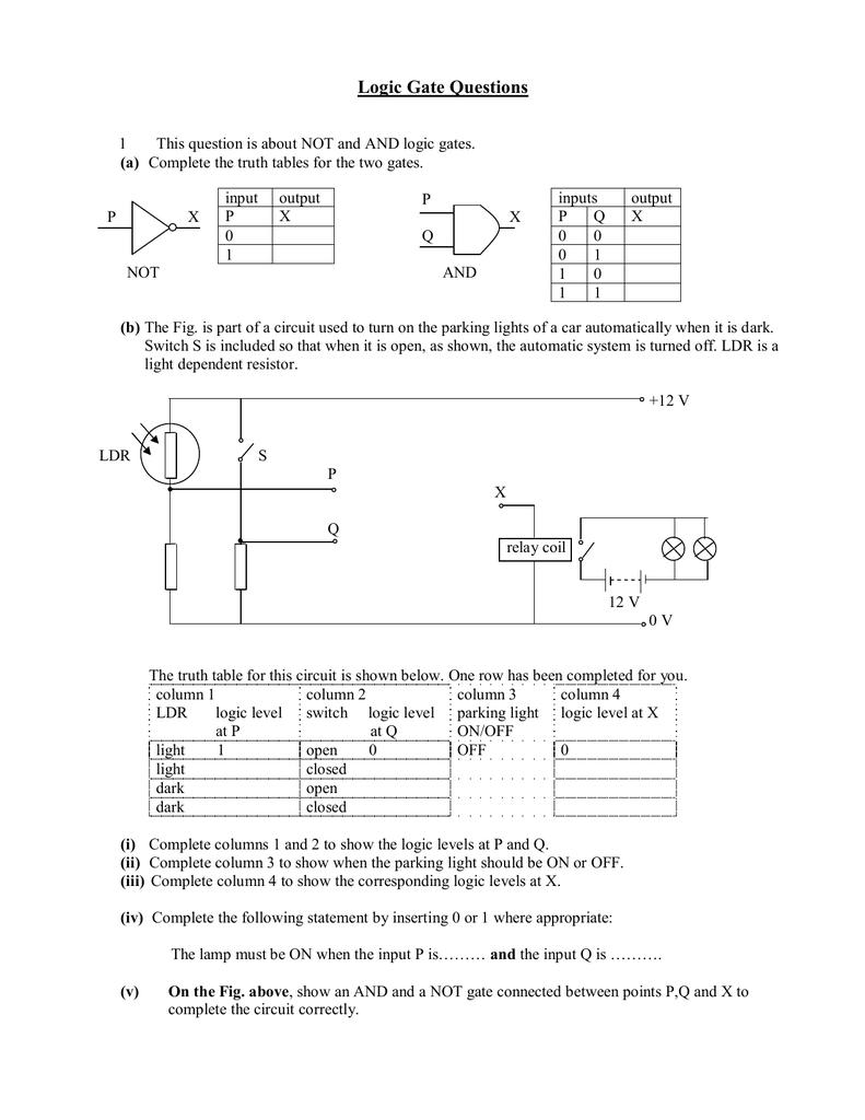 Logic Gate Questions Circuit Diagram Using Gates 018087570 1 B5c69cae1b3b1df58c751af496ef7c28