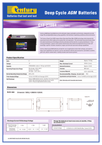 Deep Cycle AGM Batteries