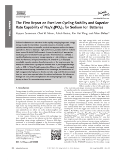 The First Report on Excellent Cycling Stability and Superior Rate