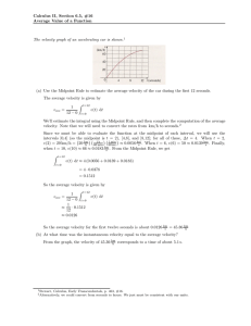 Calculus II, Section 6.5, #16 Average Value of a Function The