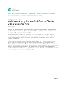 Variations Among Current-Sink/Source Circuits with a