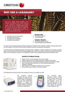 why use a loadbank? - Crestchic leading manufacturer of load banks