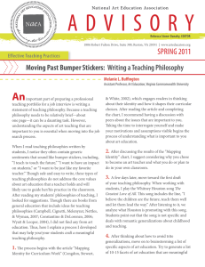 Moving Past Bumper Stickers: Writing a Teaching Philosophy