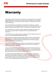 5 Year Warranty - PR Electronics