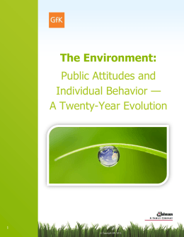The Environment: Public Attitudes and Individual Behavior — A