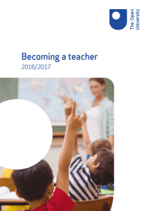 Becoming a teacher - The Open University