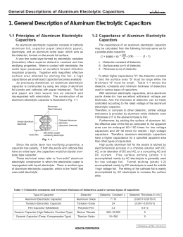 1. General Description of Aluminum Electrolytic Capacitors