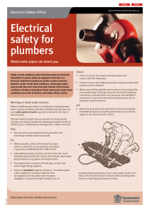 Electrical safety for plumbers - metal water pipes can shock you