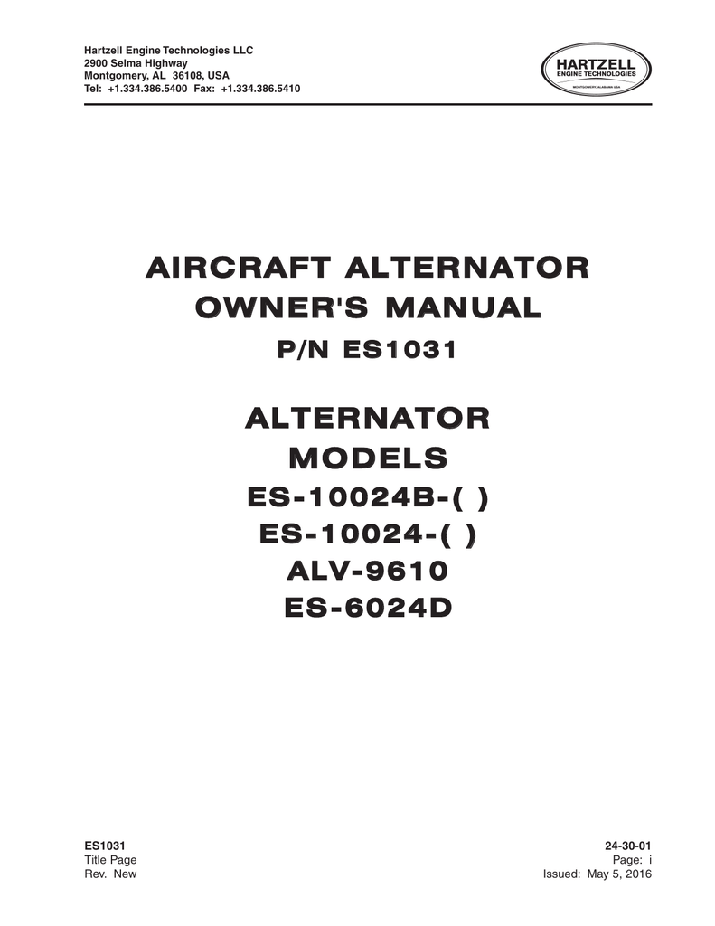 Aircraft alternator owners manual alternator asfbconference2016 Choice Image