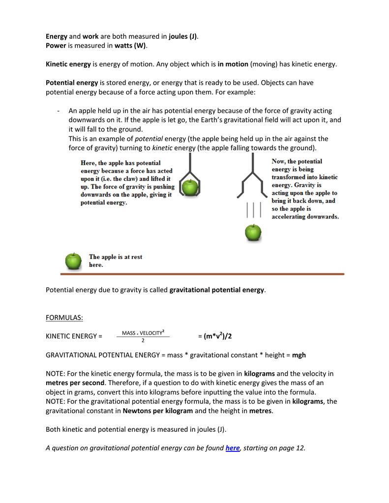 How is energy measured 9