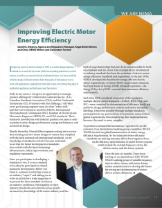 Improving Electric Motor Energy Efficiency