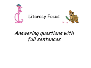 Answering questions with full sentences