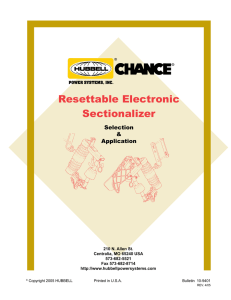 Resettable Electronic Sectionalizer