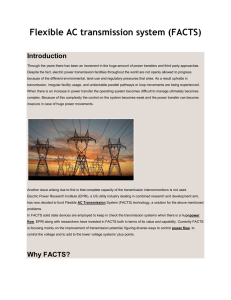 Flexible AC transmission system (FACTS)