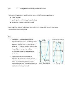 Pg164 3.5 Solving Problems Involving Quadratic