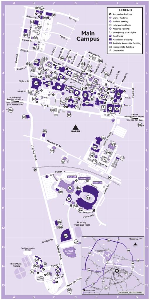 Ecu Main Campus Map