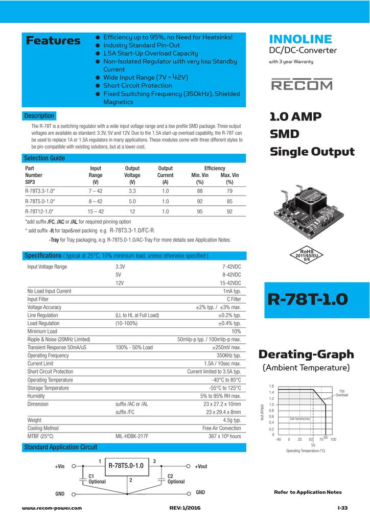 R 78Txx 1.0 RECOM Power